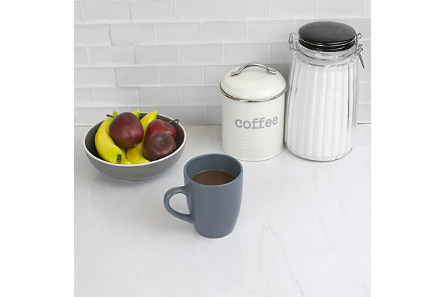 Home Accents 13 oz. Ceramic Mug, Slate Gray, Slate Gray, large