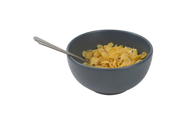 Home Accents Ceramic Cereal Bowl, Slate Gray, Slate Gray, large