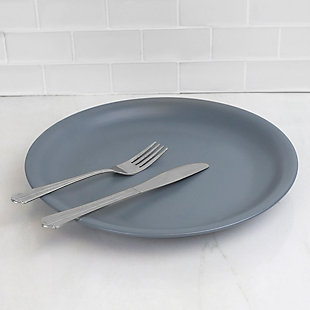 "Home Accents 10.5"" Ceramic Dinner Plate, Slate Gray, Slate Gray, rollover"