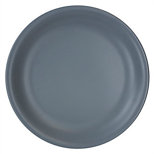 "Home Accents 10.5"" Ceramic Dinner Plate, Slate Gray, Slate Gray, large"