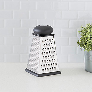 Home Accents Triangle Cheese Grater with Rubber Base, Black, , rollover