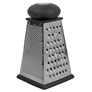 Home Accents Triangle Cheese Grater with Rubber Base, Black, , large