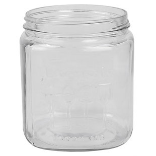 Home Accents Large Capacity Glass Utensil Crock, Clear, , large