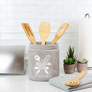 Home Accents Home Made Storage Ceramic Utensil Crock, , rollover