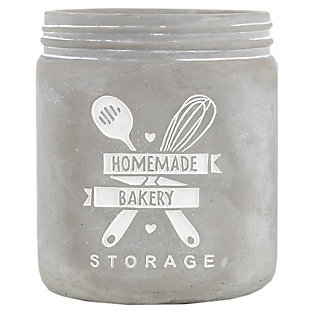 Home Accents Home Made Storage Ceramic Utensil Crock, , large