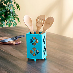 Home Accents Trinity Collection Cutlery Holder, Turquoise, , rollover