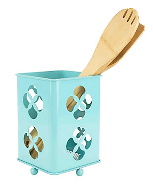 Home Accents Trinity Collection Cutlery Holder, Turquoise, , large