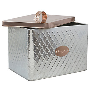 Home Accents Arbor Collection Tin Bread Box, Silver, , large
