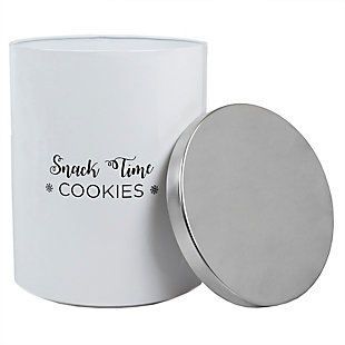 Home Accents Cuisine Collection Large  Canister with Brushed Stainless Steel Top, , large