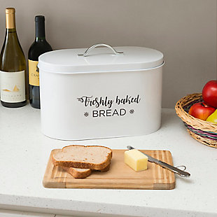 Home Accents Cuisine Collection Tin Bread Box, , rollover