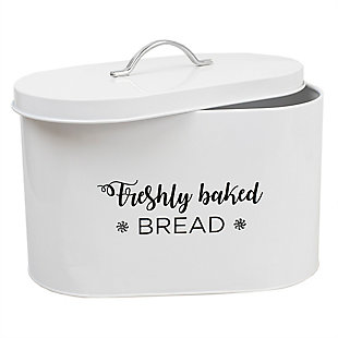 Home Accents Cuisine Collection Tin Bread Box, , large