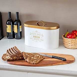 Home Accents Homestead Collection Tin Bread Box, , rollover