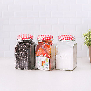 Home Accents Rustic Picnic 44 oz. Glass Canister, (Set of 3), , rollover