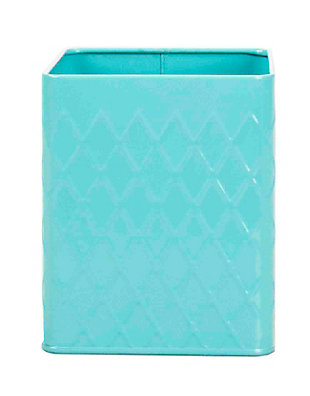 Home Accents Tin Utensil Holder, Turquoise, , large