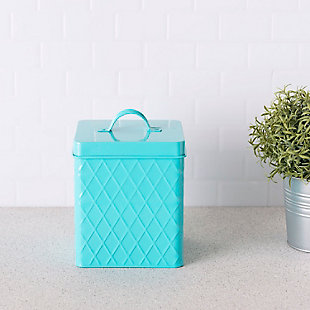 Home Accents Large  Tin Canister, Turquoise, , rollover