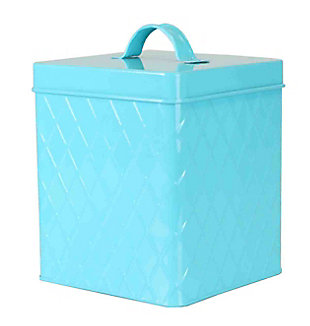 Home Accents Large  Tin Canister, Turquoise, , large