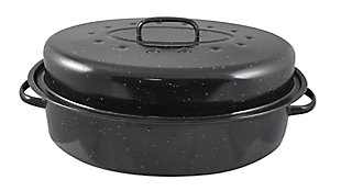 Home Accents Non-Stick Carbon Steel Roaster with Lid, , large