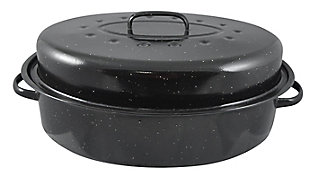 Home Accents Non-Stick Carbon Steel Roaster with Lid, , rollover