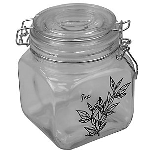 Home Accents Ludlow 23 oz. Canister with Metal Clasp, Clear, , large