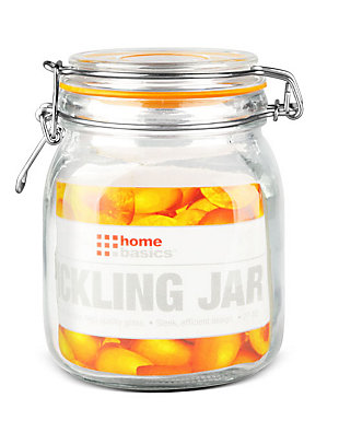 Home Accents 34 oz. Glass Pickling Jar with Wire Bail Lid and Rubber Seal Gasket, , large