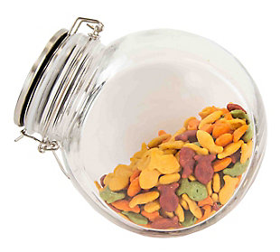 Home Accents 44 oz. Glass Candy Jar, Clear, large