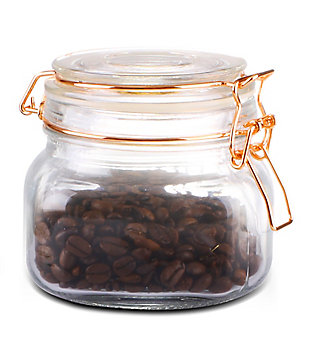 Home Accents Large Glass Pickling Jar with Rose Gold Clamp, Rose Gold, large