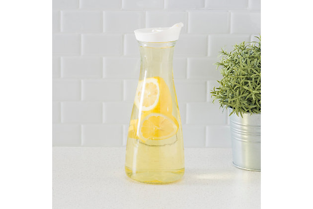 Home Accents 1 Liter Glass Carafe, , large