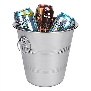 Home Accents Stainless Steel Ice Bucket, , rollover