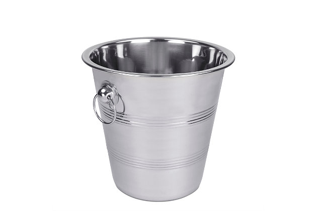 Home Accents Stainless Steel Ice Bucket, , large