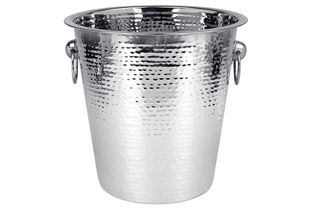 Home Accents Hammered Ice Bucket, , large
