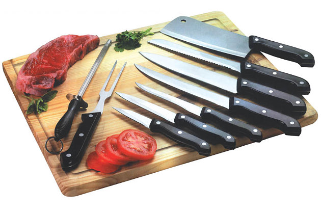 Home Accents 10 Piece Knife Set with Cutting Board, , large