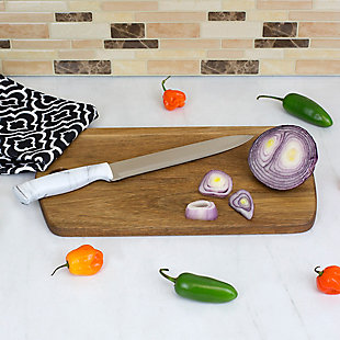 "Home Accents Marble Collection 8"" Carving Knife, White, , rollover"