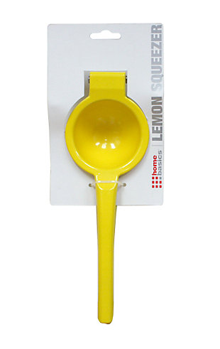 Home Accents Enamel Coated Steel Lemon Squeezer, Yellow, , rollover