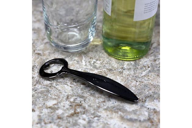 Home Accents Nova Collection Zinc Bottle Opener, Black Onyx, , large
