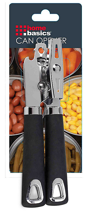 Home Accents Manual Can Opener with Soft Grip Rubber Handles, , large