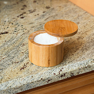 Home Accents Natural Bamboo Salt Box, , rollover