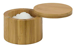 Home Accents Natural Bamboo Salt Box, , large