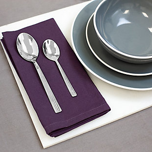Home Accents 4-Piece Stainless Steel Tea Spoon Set with Eternity Mirror Finish, , rollover