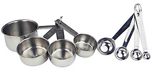 Home Accents 8-Piece Stainless Steel Measuring Cup Set, , rollover