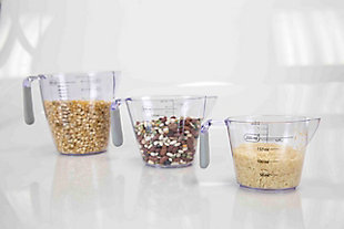 Home Accents 3-Piece Measuring Cup with Rubber Grip, , rollover