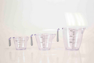 Home Accents 3-Piece Measuring Cup with Rubber Grip, , large