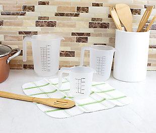 Home Accents Precise Pour 3-Piece Plastic Measuring Cup, , rollover
