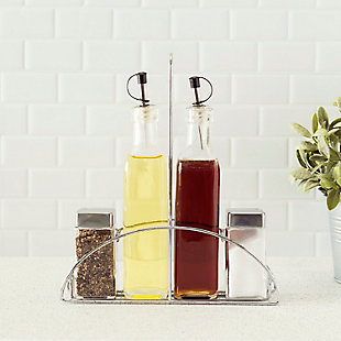 Home Accents 4-Piece Cruet Set with Stand, , rollover