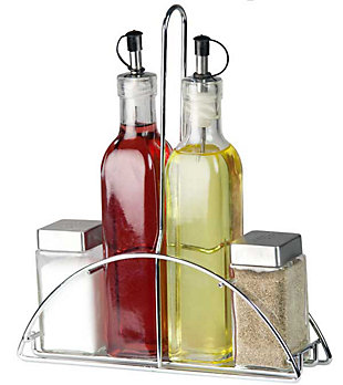 Home Accents 4-Piece Cruet Set with Stand, , large