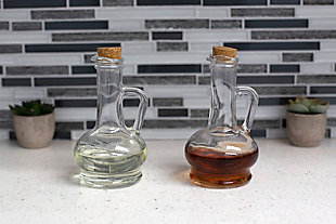Home Accents Orchard Glass Oil and Vinegar Bottle with Cork Tops, , rollover