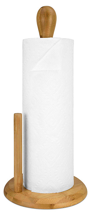 Home Accents Bamboo Paper Towel Holder, , large