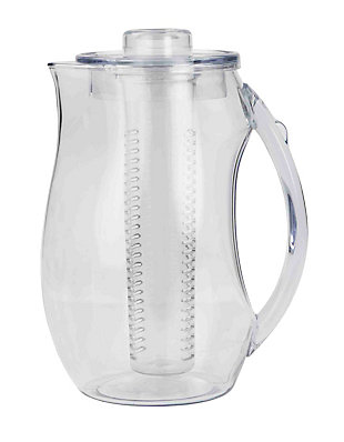 Home Accents 2 Liter Plastic Fruit Infuser Pitcher, Clear, , large