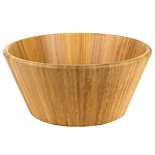 Home Accents Bamboo Salad Bowl, , large