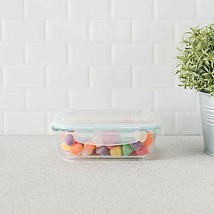 Home Accents 20 oz. Rectangular Borosilicate Glass Food Storage Container, , rollover