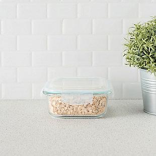 Home Accents 27. oz. Square Borosilicate Glass Food Storage Container, , rollover